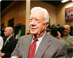 Carter calls for reconstruction of Gaza