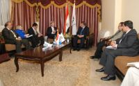 Senator John Kerry and U.S. Ambassador Visit FJP, Discuss Egypt's Democratic Transition
