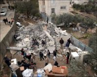 IOA demolishes tent of evicted family in Sheikh Jarrah