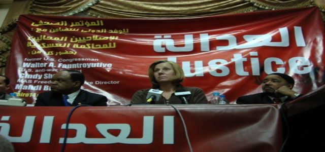 Activist Sheehan Comes To Egypt, Calls For End To Military Trials