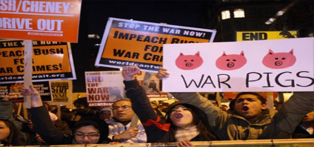 Anti-War Demonstrations in US Cities to Protest Bush's 'Major Victory'