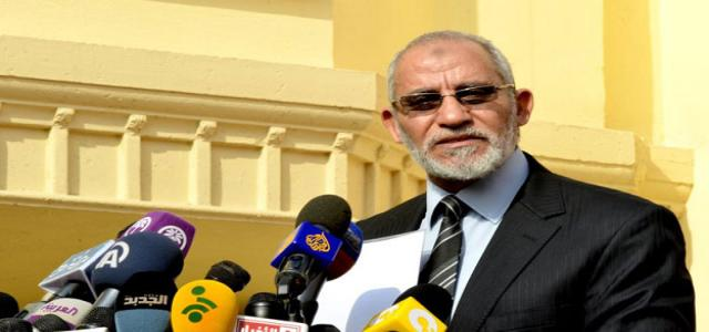 Brotherhood, FJP: Badie and Al-Shater Not Arrested; Authorities Intent to Violate Freedoms