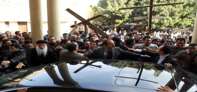 Egyptian Ministers Pelted with Stones by Angry Christian Demonstrators