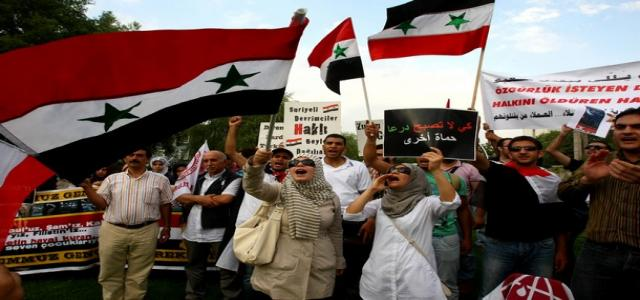 Syrians Protest in Cairo Calling For Solidarity