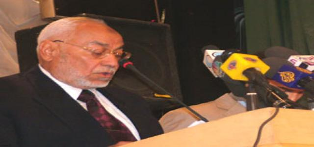 Akef: Dictatorship is the cause of the Distress Egyptians are Suffering From