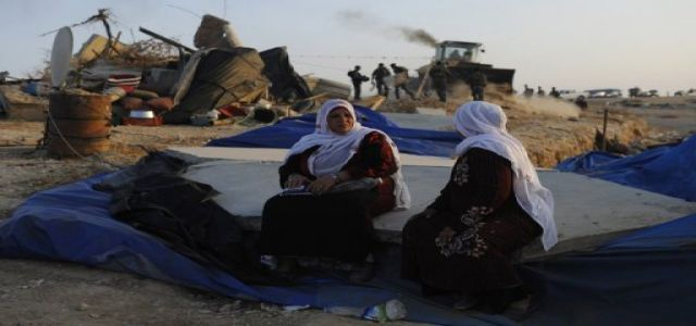 Women, children homeless after their tents razed by Israel in Negev