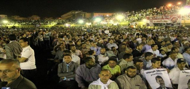 Thousands Welcome Brotherhood's Presidential Candidate in his Hometown