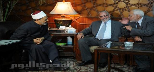 For the First Time, Sheikh of Al-Azhar Recieves Dr Badea and Members of the Executive Bureau