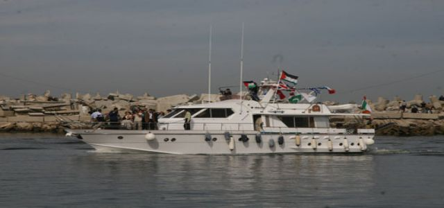 Prefabricated homes aboard flotilla to Gaza