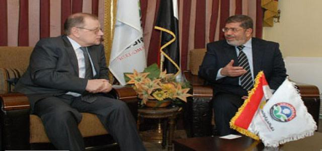 FJP Receives Russia's Ambassador in Cairo