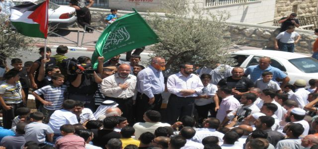 March in Aqsa Mosque in protest at Israel's decision to exile Hamas MPs