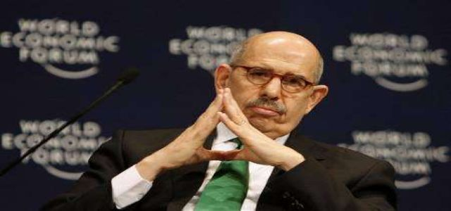 No welcoming committee or crowds of supporters for ElBaradei