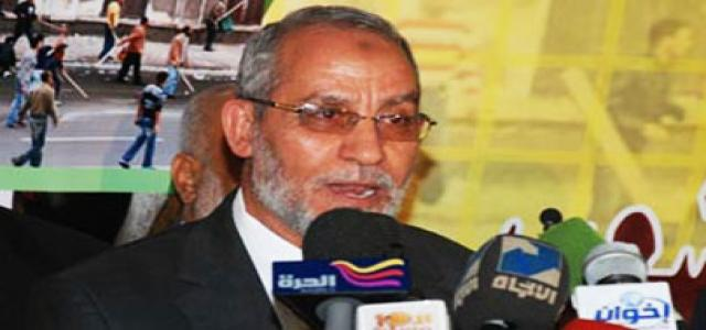 MB Chairman: Oppression and Tyranny no longer tolerated in Egypt