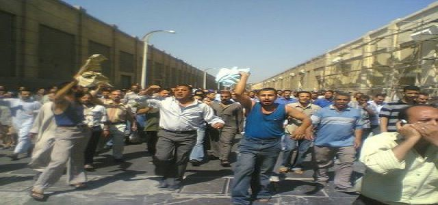Shebin Textiles workers protest while Security Forces in Hamoul thwarts another