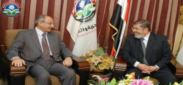 Dr. Morsi Holds Talks with Kuwaiti Ambassador in Cairo at FJP Headquarters