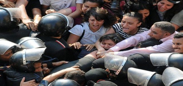 Security forces assault female activists, arresting 50 others